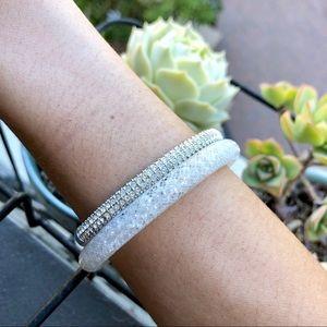 Swarovski silver crystal bangle